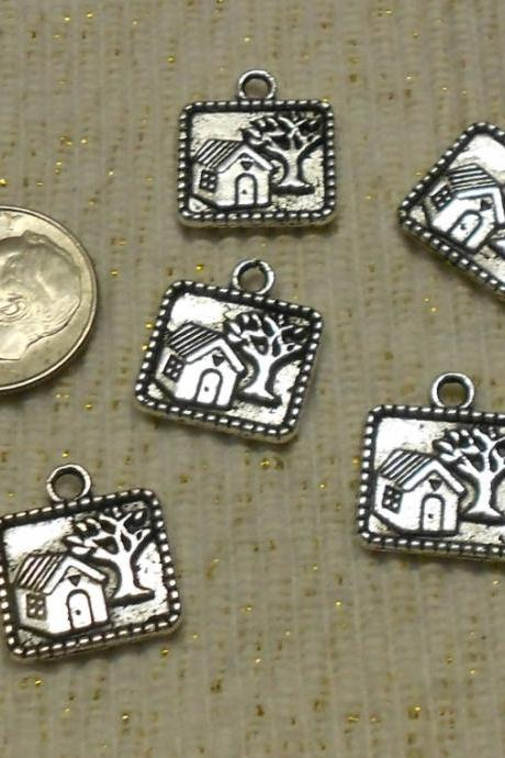 Little Silver House Charms