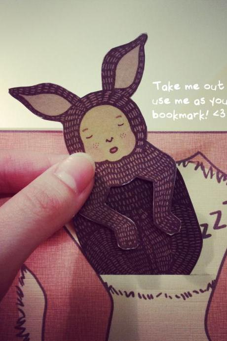 Mother's Day/Father's Day Grey Kangaroo Joey Card / Bookmark 'I'm thankful to be your Joey'