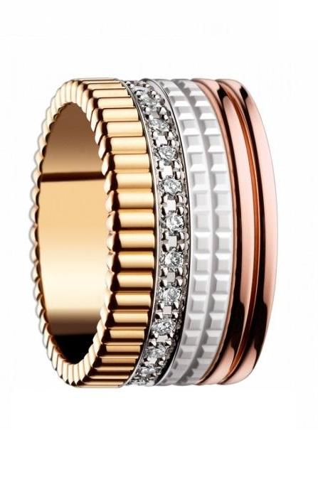 Luxury 4-Toned Stainless Steel Ring Band - available sz 6 thru 9