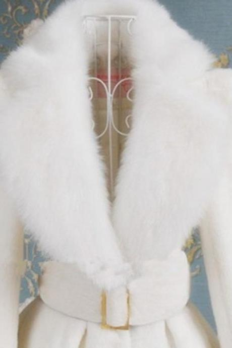 White Bridal Coat White Pageant Dress White Winter Coats is READY FOR SHIPPING-recieve it after 3-4 days(USA ground)