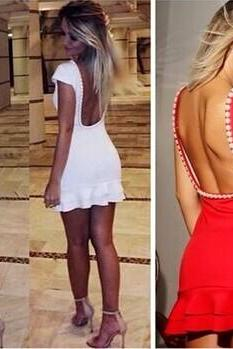 sexy back Beaded dress