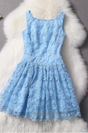 Sexy Slim Lace Embroidered Dress
