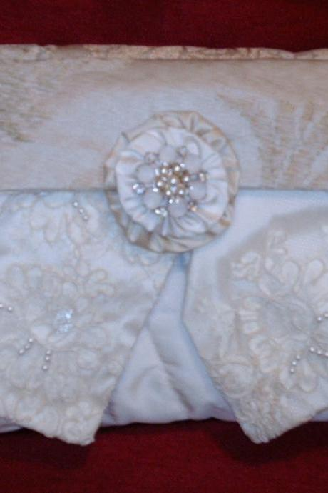 Custom Handcrafted Wedding Clutch For Bride