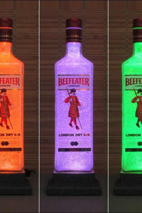 Beefeater London Gin Color Changing LED Remote Controlled Bottle Lamp Light Eco Friendly RGB LED