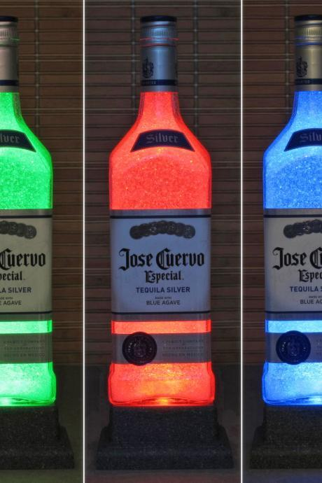 Jose Cuervo Silver Tequila Color Changing LED Remote Controlled Bottle Lamp Light Eco Friendly RGB LED