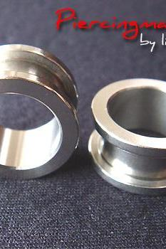One Pair 5/8' Tunnels Tunnel Ear Plug Earlets Lobe Earrings Body Piercing