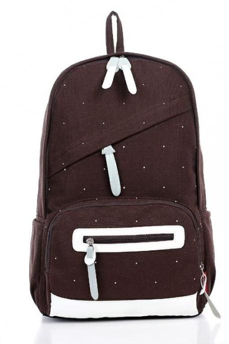 Fall fashion school canvas girl backpack