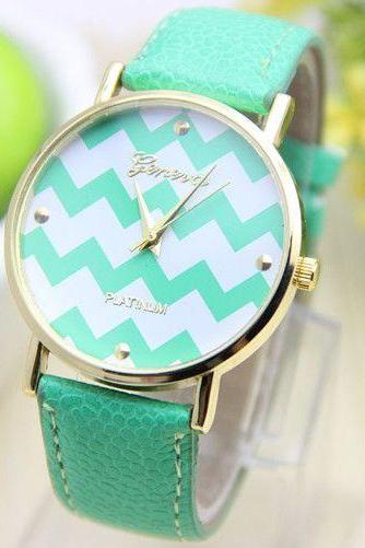 Stripes dial party holiday gift woman watch