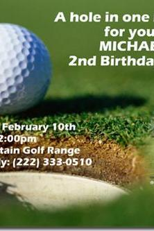 Putt Putt Golf Birthday Invitations (Download JPG Immediately) Click for Additional Designs