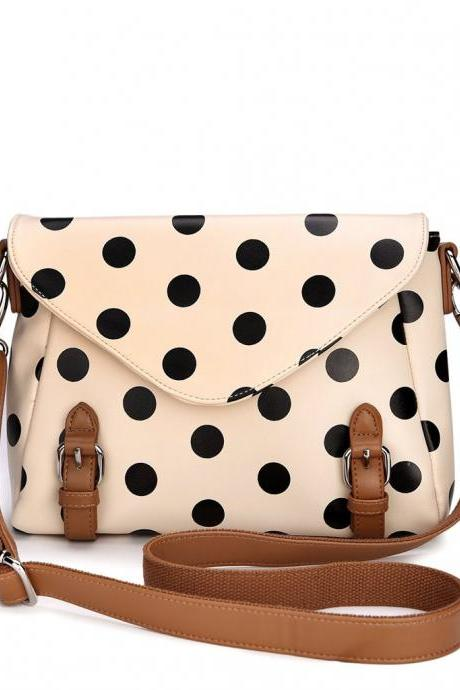 [grdx02180]Retro cute Polka Dot Messenger Bag shoulder bag