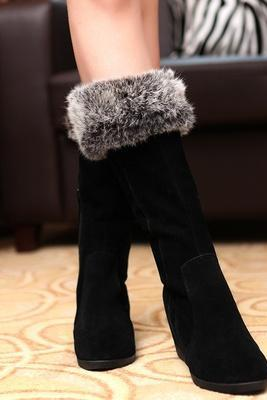 Rabbit Slim Europe plus velvet boots slope with increased dermal