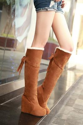 Winter influx of women fashion boots slope with comfortable warm Knight Tall boots