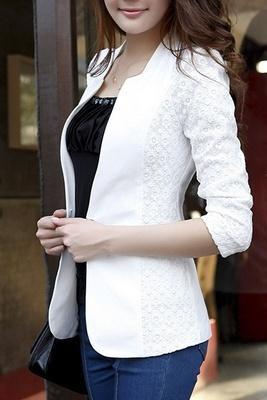 Hot Sale New Fashion Seven Point Sleeve Short Jacket Suits Blazer