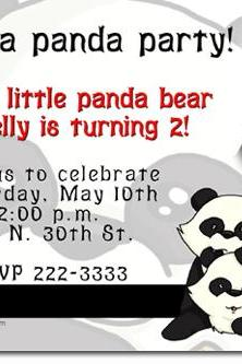 Panda Bear Birthday Invitations (Download JPG Immediately) Click For Additional Designs