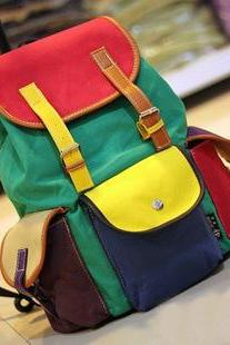 Unique Colourful Canvas Backpack Bag