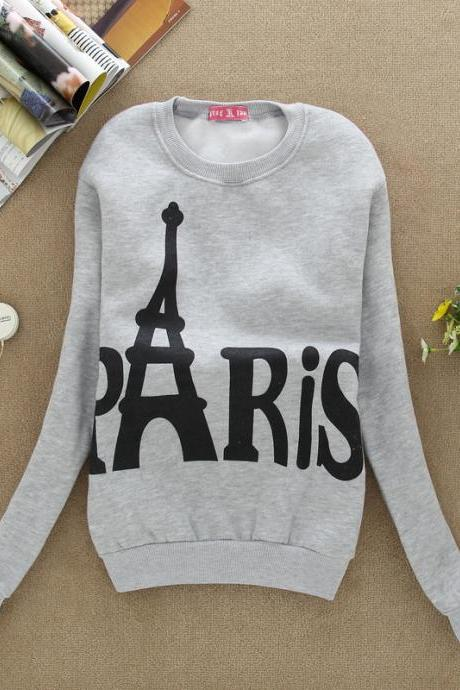 Tower Printed long-sleeved sweater sweatshirt