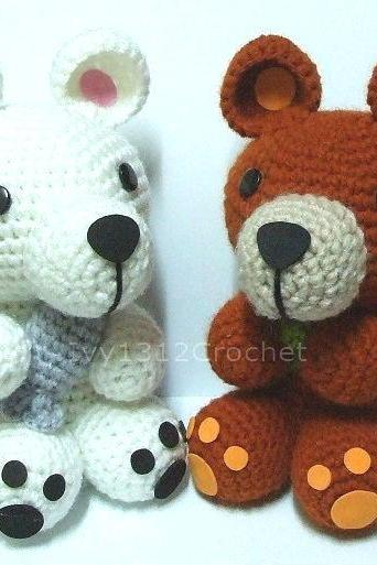 Puppies 5.9' - Handmade Amigurumi crochet doll birthday gift Baby shower toy (Price for each item)