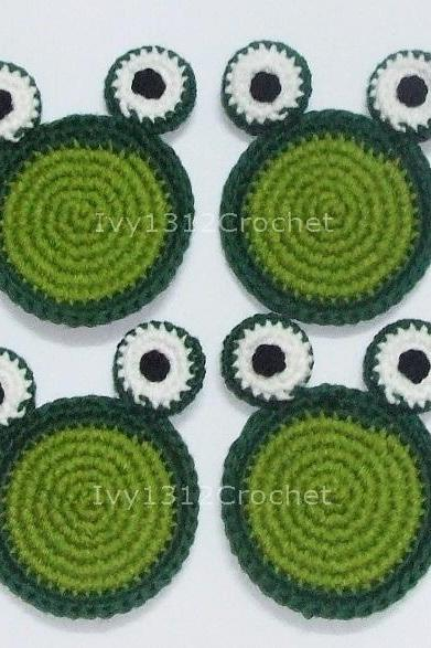 Frog Coasters (Set of 4) - Handmade Amigurumi Coasters