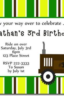 Tractor Birthday Invitations (Download JPG Immediately) Click For Additional Designs ANY COLOR SCHEME
