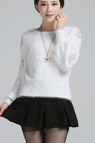 Sweet loose knit sweater CA922F