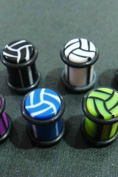 0g 8mm PAIR Weave Ear Plug Rings Earrings Earlet 0 Gauge gift body piercing O-Ring