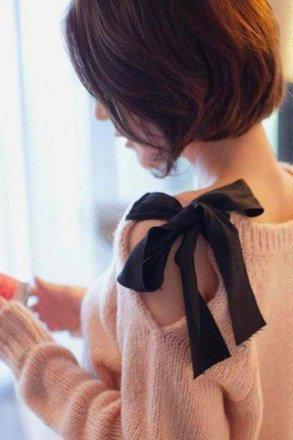 Strapless Bow Retro Loose Cardigan Sweater Coat