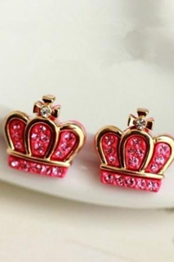 Adorable Crystal Crown Earrings
