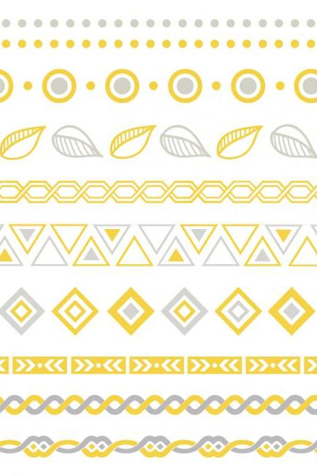 Rouelle ELLEtatts Tribal 2: Metallic Tattoos, flash tattoos, gold tattoos, silver tattoos, temporary tattoos, jewelry tattoos.