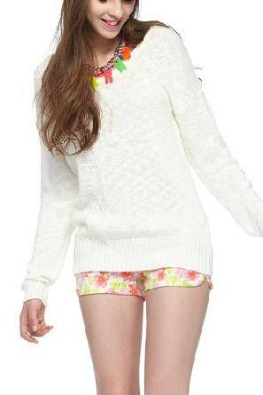 Hedging outer wear loose sweater female student