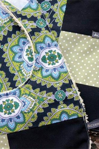 Baby bib and burp set - (navy, green, jasmine paisley)