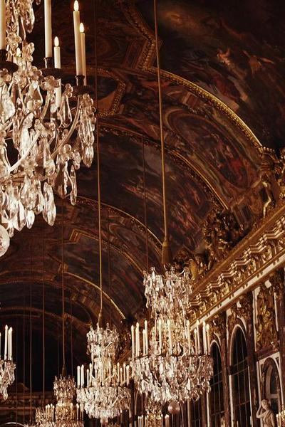 Hall of Mirrors - Versailles - Paris - Crystal Gold - Fine Art Travel Photography 8x10'