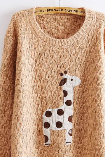 Lovely Dots Giraffe Sweater