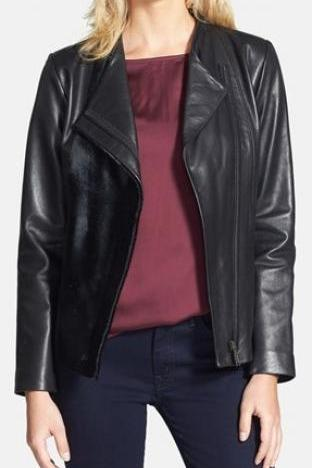 Leather Biker Moto Jacket