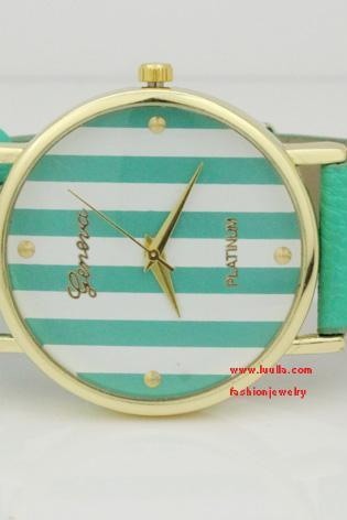 Leather wrap watch women's mint green bracelet watch girls wrist watch vintage style watch Christmas gift Brithday gift Friendship gift