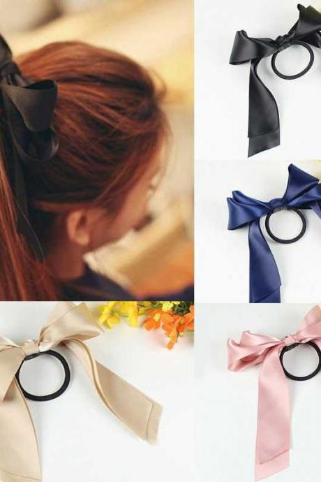 *Free Shipping* New Nice Hair Accessories Ribbon Bowknot Elastic Hair Band for Women