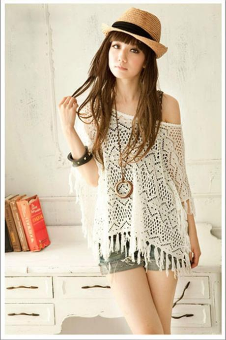 Cute Bohemian Fringe Top