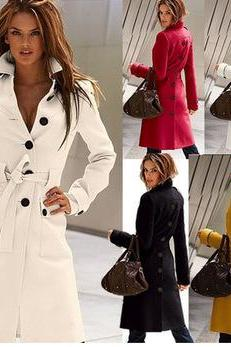 Slim Cashmere Wool Coat