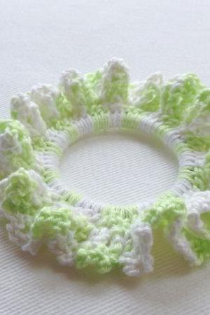Greenie Elfie Cotton Hand Crochet Hair Tie
