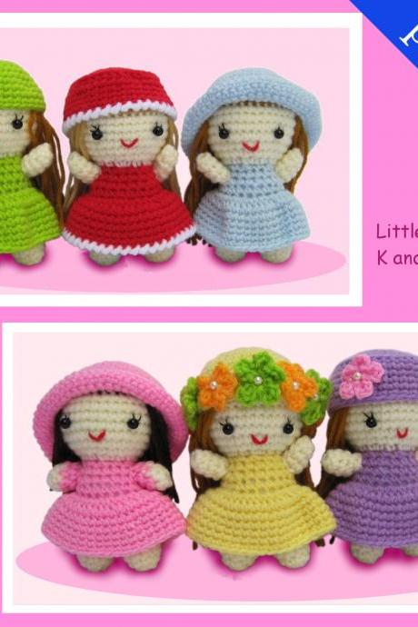 PDF Crochet Pattern for Little Girls