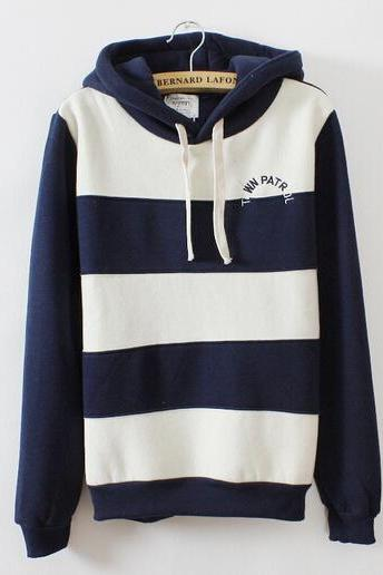 Stripes With Thick Fleece Sweater AX092810ax