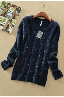 Hedging Long-sleeved Knit Sweater