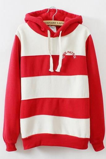 Stripes With Thick Fleece Sweater #2255ad