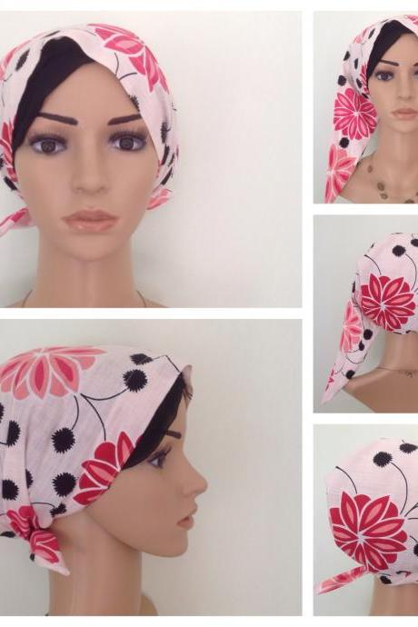 Pre-tied Head Scarf, Turban, Alopecia, Head wrap, Hair Covering, chemo scarf, hair loss scarf, home-made item.