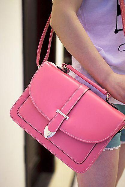 Vintage Design Rose Pink Shoulder Bag