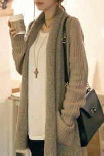 Fashion knit cardigan sweater #092901AA