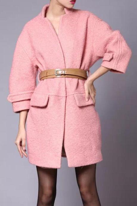New Arrival Wool Coat Jacket Winter Overcoat Outerwear With Belt