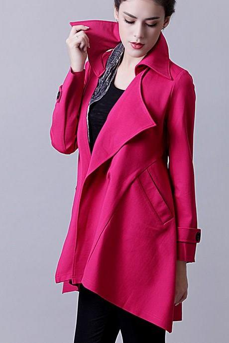 Beautiful Women Rose Coat