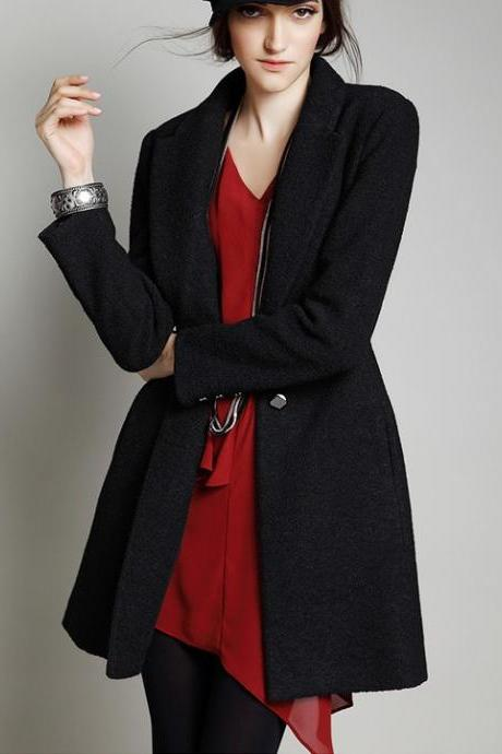 Women Coat Black Coat Jacket