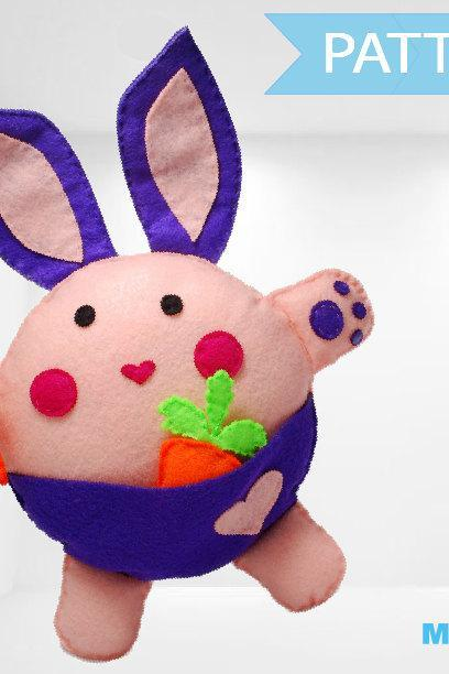 Bunny Plush Toy Pattern A1085
