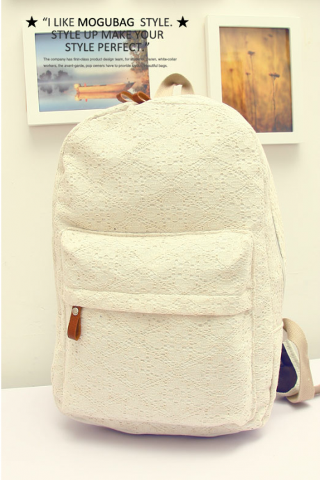 Fashion Sweet Floral Lace Backpack